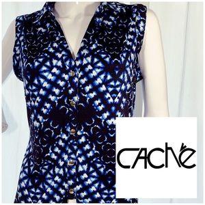 Vintage Cache sleeveless blouse